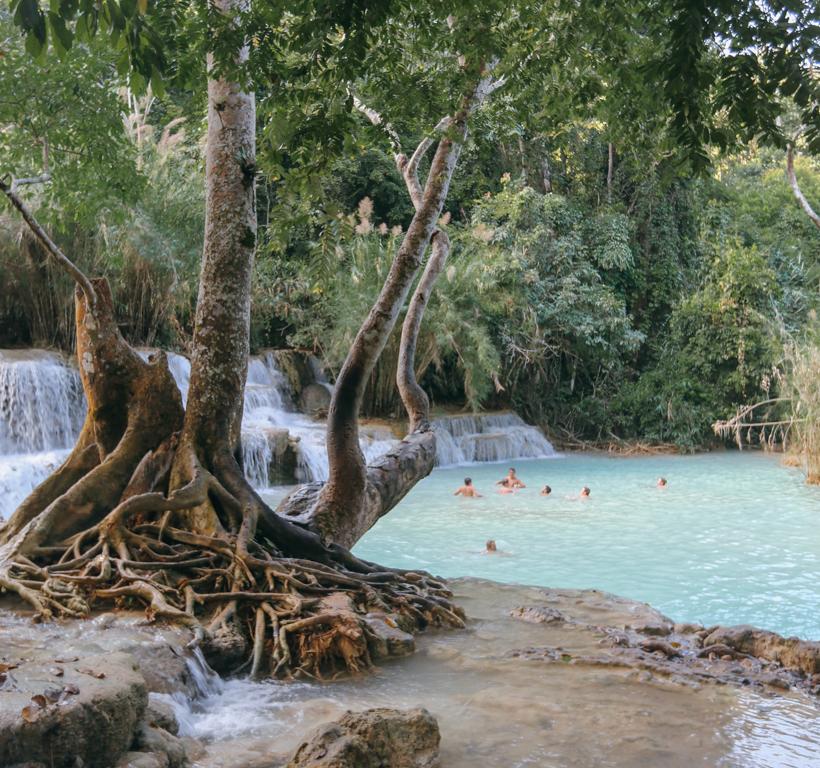 Kuang Si Waterfalls in Laos | DesignComb