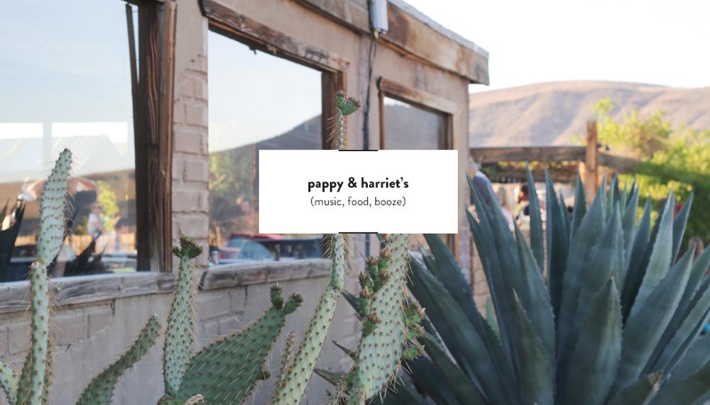 Pappy & Harriet's | DesignComb