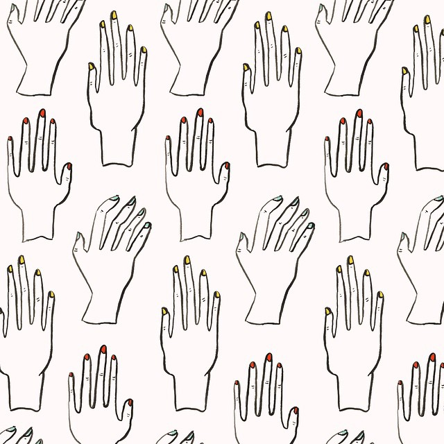 Nail Salon Pattern by Sara Combs | DesignComb