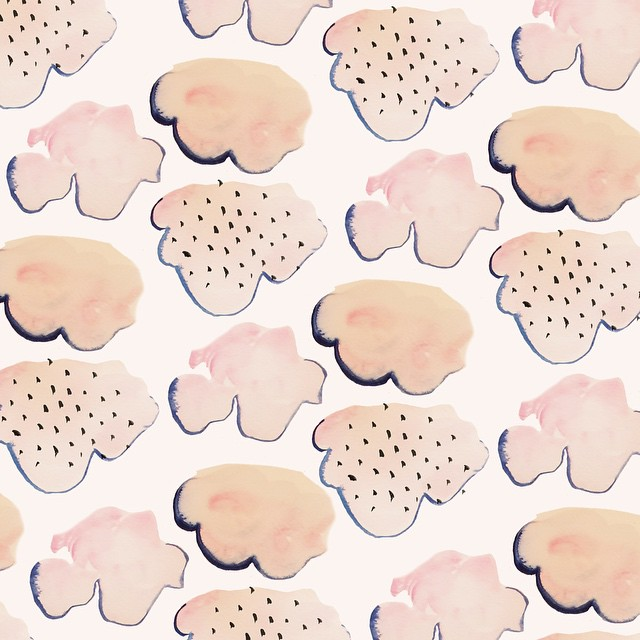 Cotton Candy Clouds Pattern by Sara Combs | DesignComb