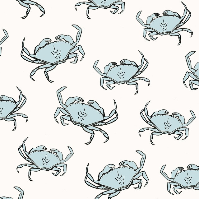 Dungeness Crab Pattern by Sara Combs | DesignComb