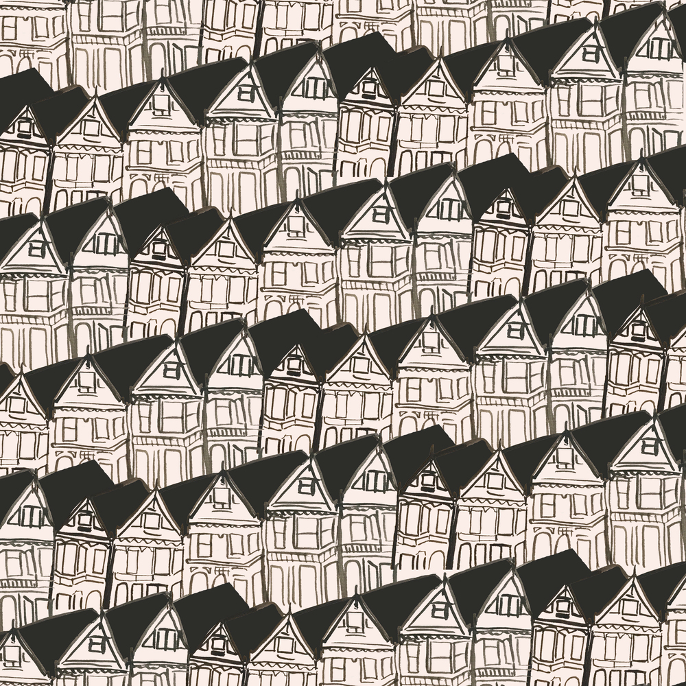 Painted Ladies pattern by Sara Combs | DesignComb