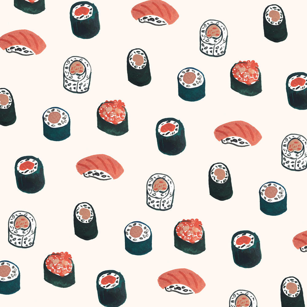 Sushi Pattern by Sara Combs | DesignComb
