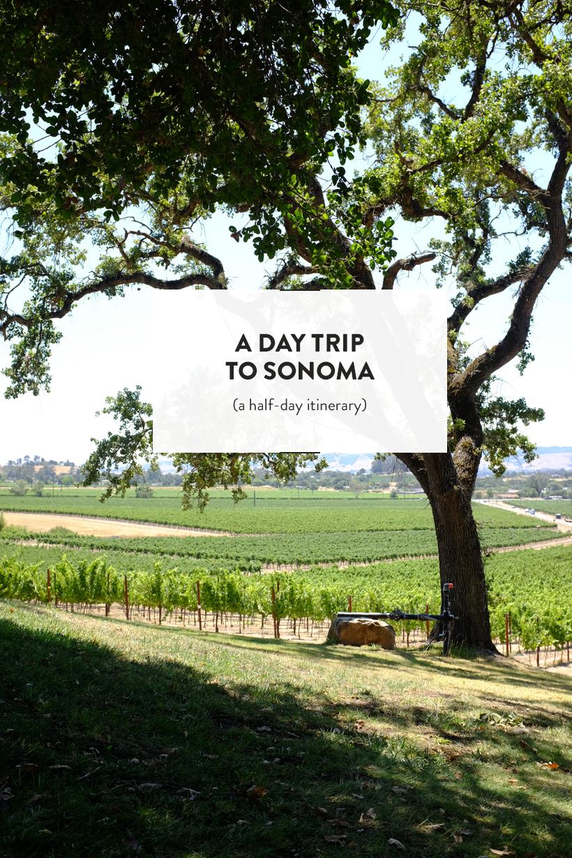 A half-daySonoma Itinerary | DesignComb