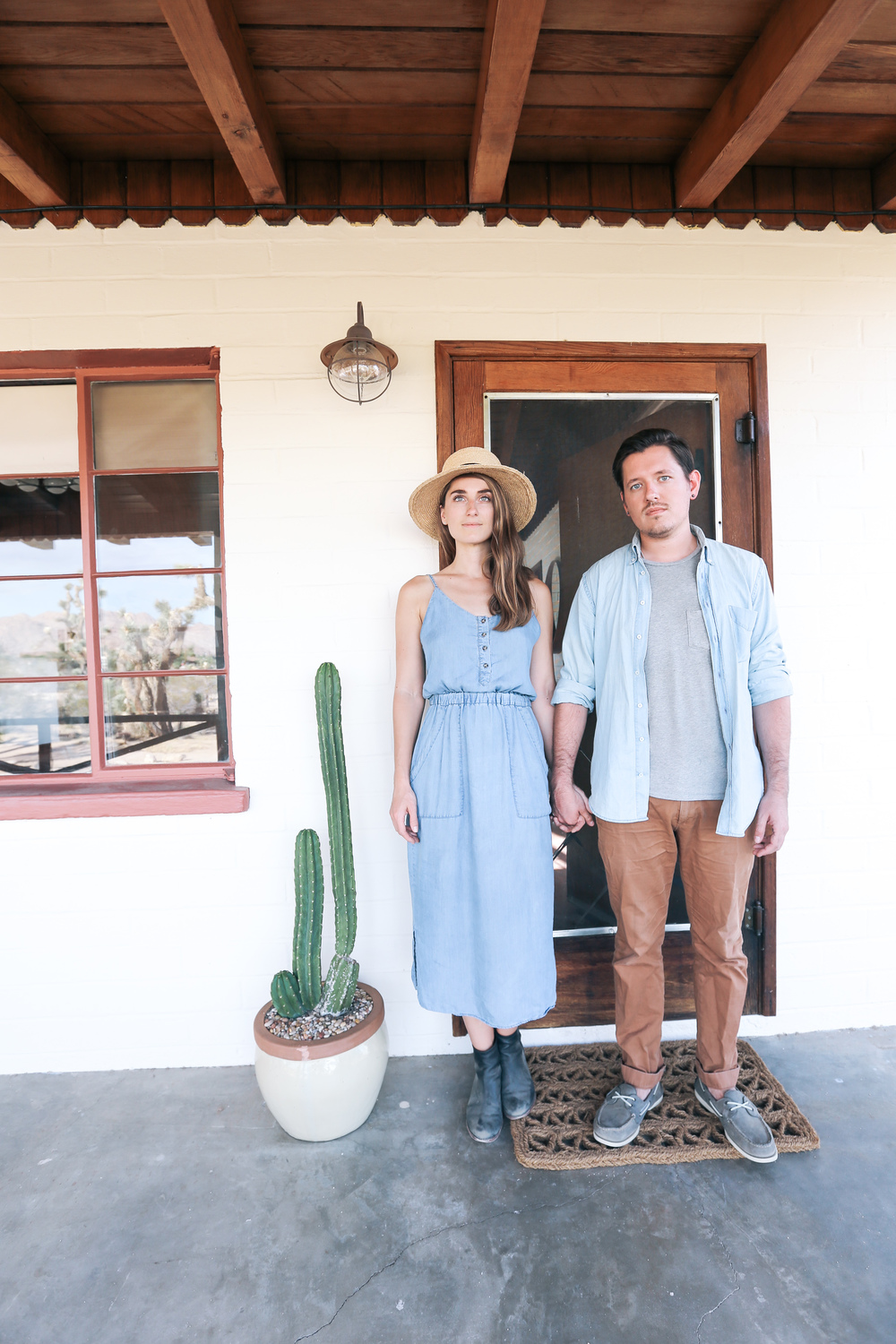 Sara and Rich Combs, owners of The Joshua Tree House | DesignComb