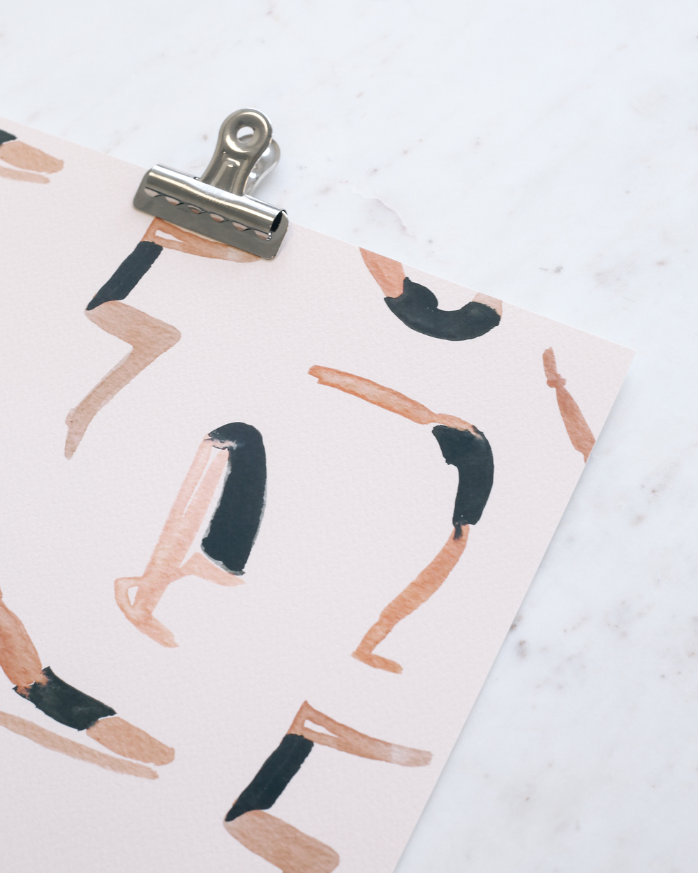 Sara Combs Yoga Class Print | DesignComb