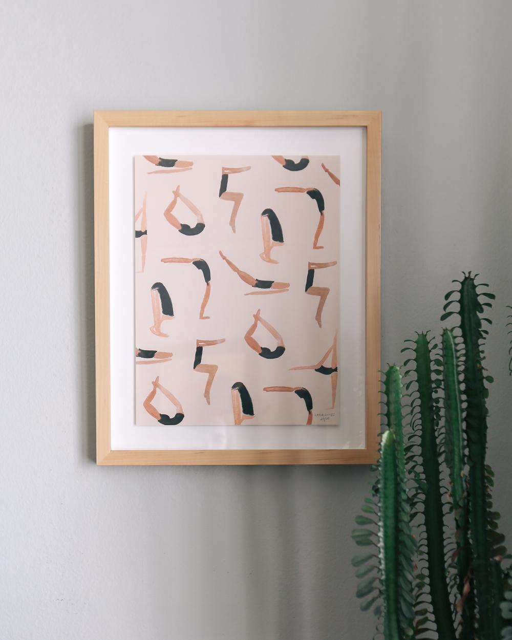 Sara Combs Yoga Print | DesignComb