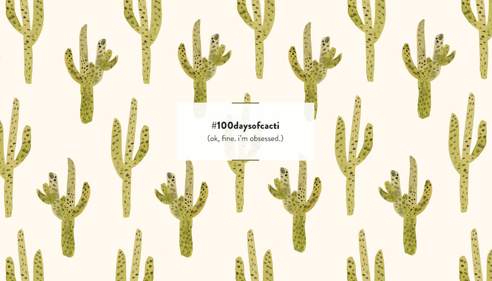 100 Days of Cacti by Sara Combs