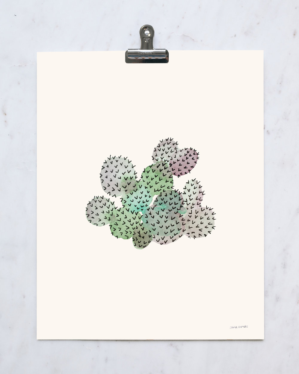 "Purple Prickly Pear 11x14"" print"