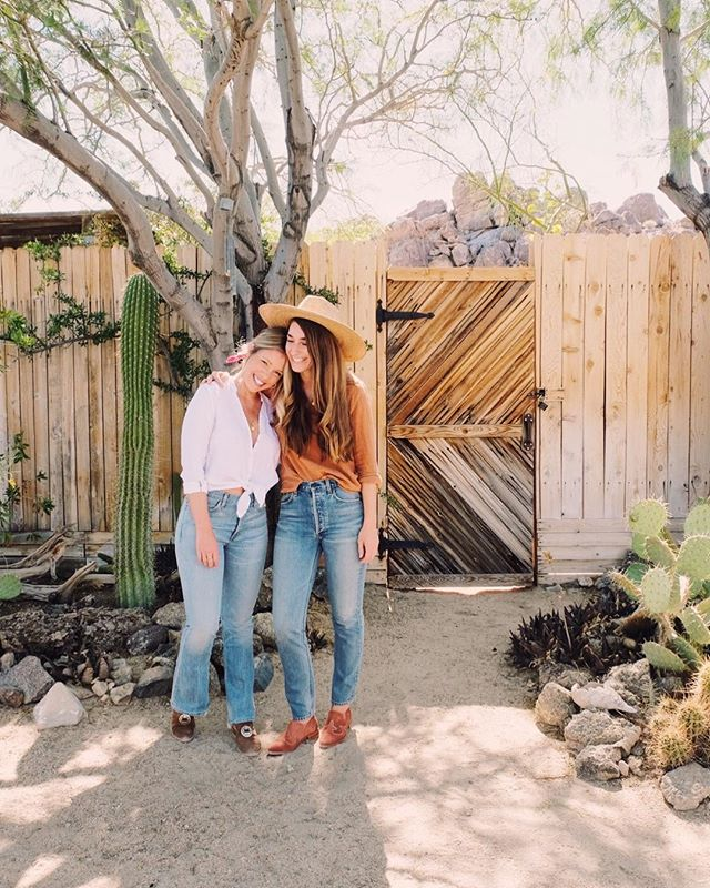 So grateful to have friends that visit often, and love this community in the desert just as much as we do. 🌵 (photo taken by @fredasalvador from a couple weeks back when @aleksandrazee @fredasalvador and @citizensofhumanity were in town. ✨) #thejoshuatreehacienda
