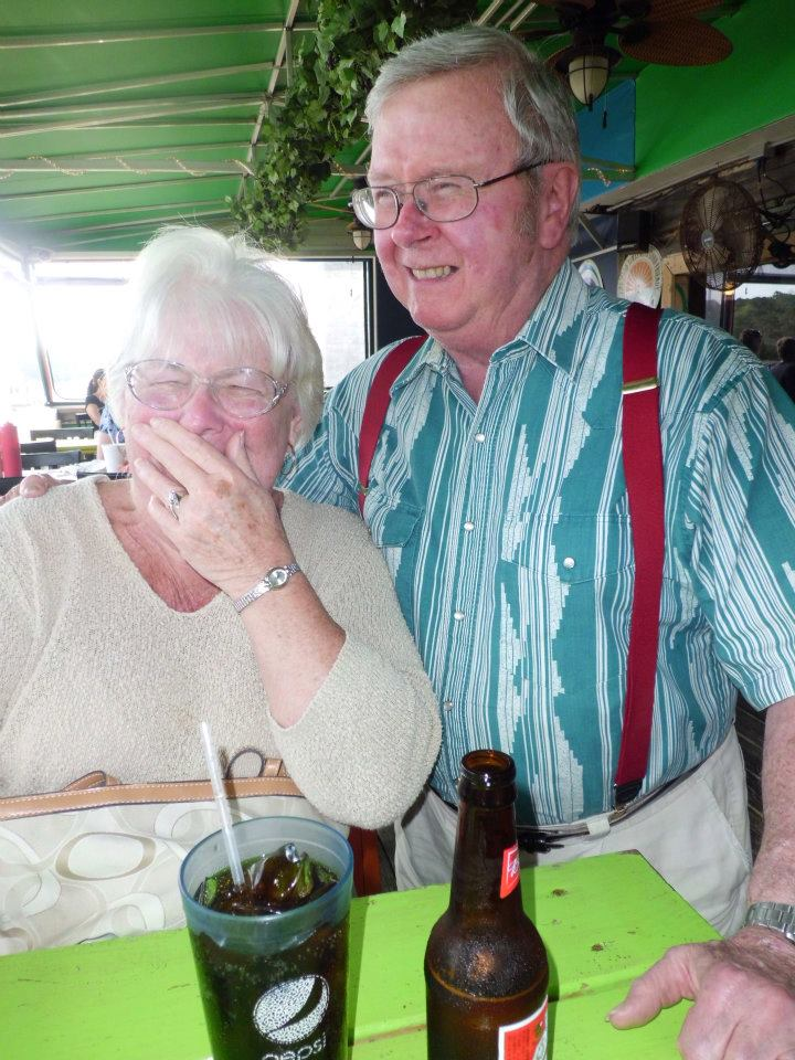 My Grandparents are pro laughers. Grandma's specialty is laughing to the point of tears. It's my favorite.