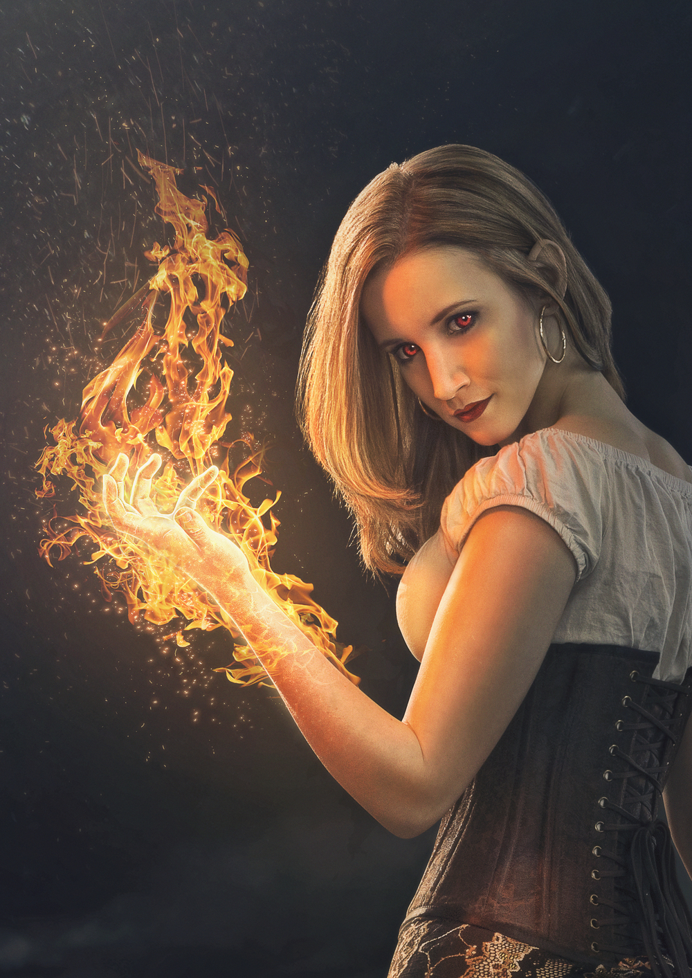 5 Tips For Adding Fire With Photoshop — Robert Cornelius for Girl With Fire In Hands  174mzq