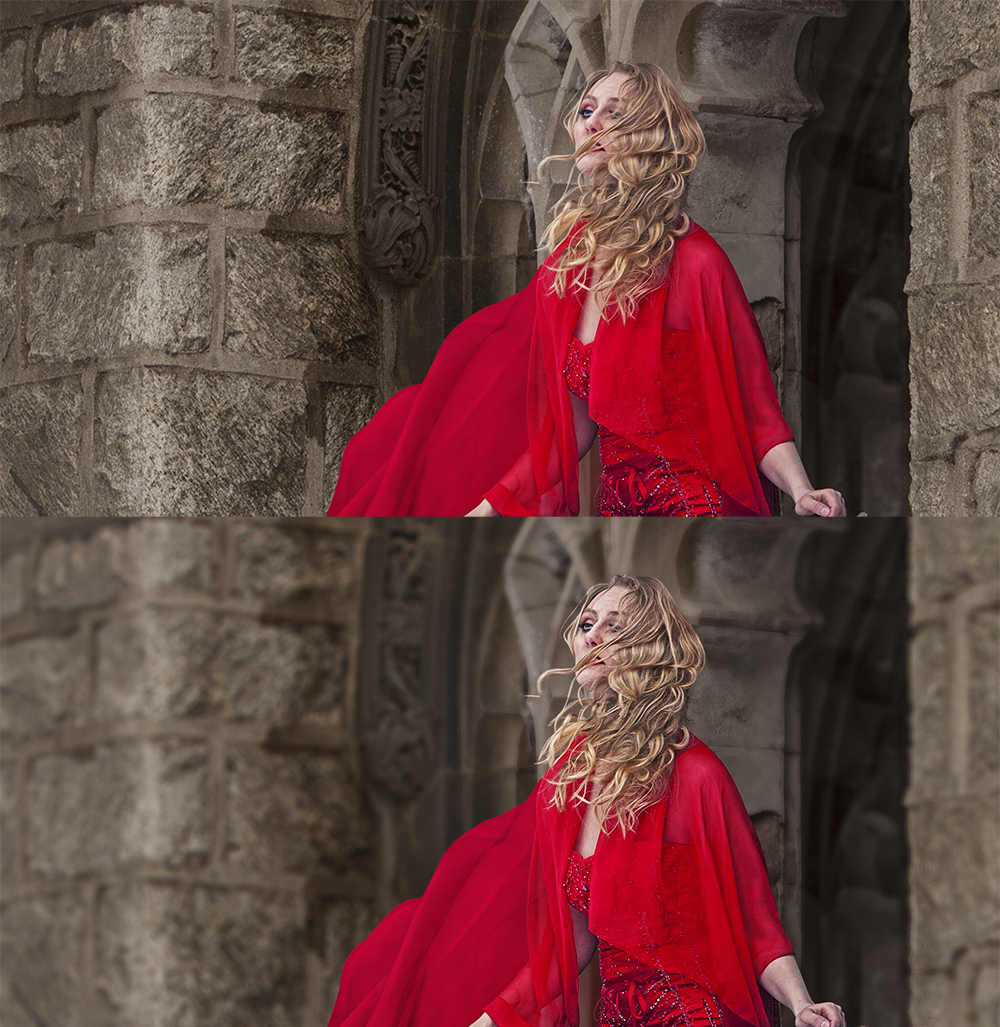 blurred background technique for red princess