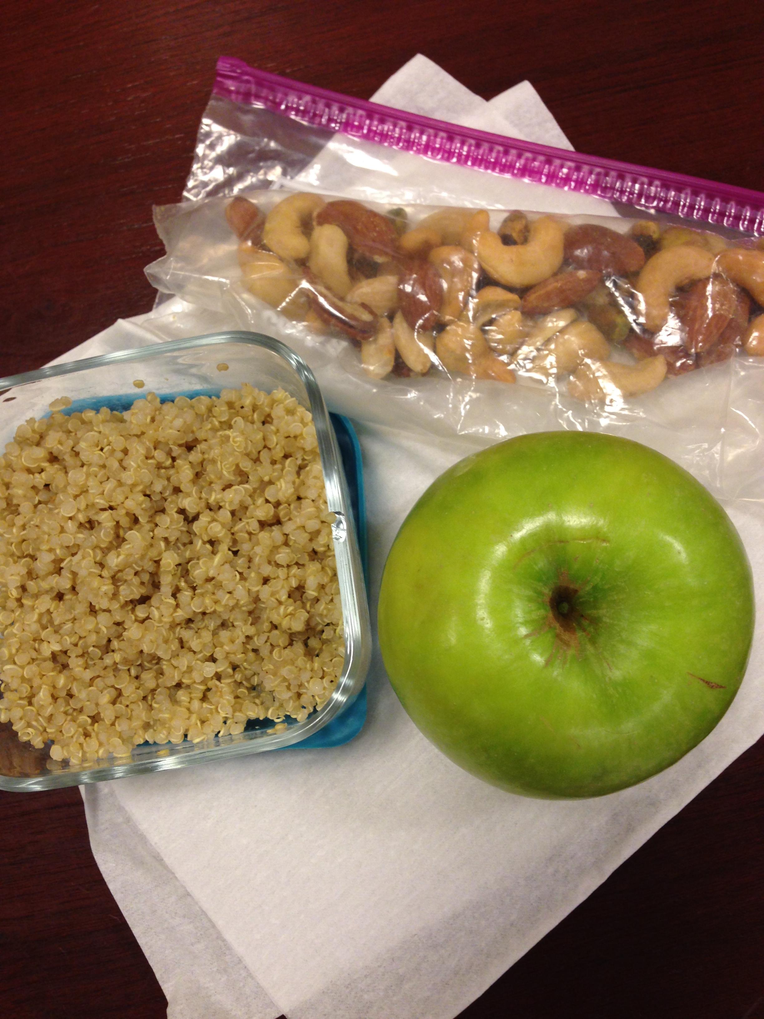 Quinoa, Apple, Mixed Nuts