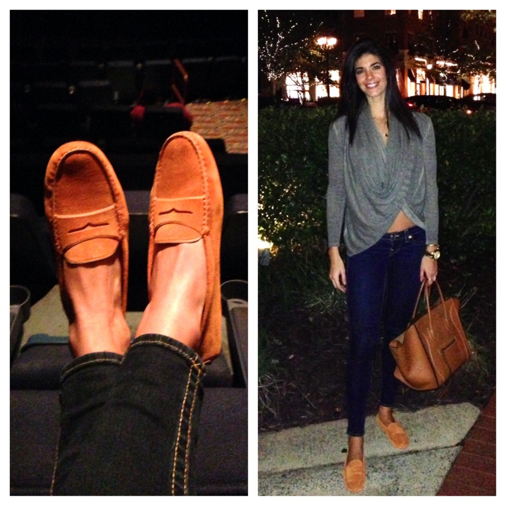 Todds Orange Slippers, Celine Handbag
