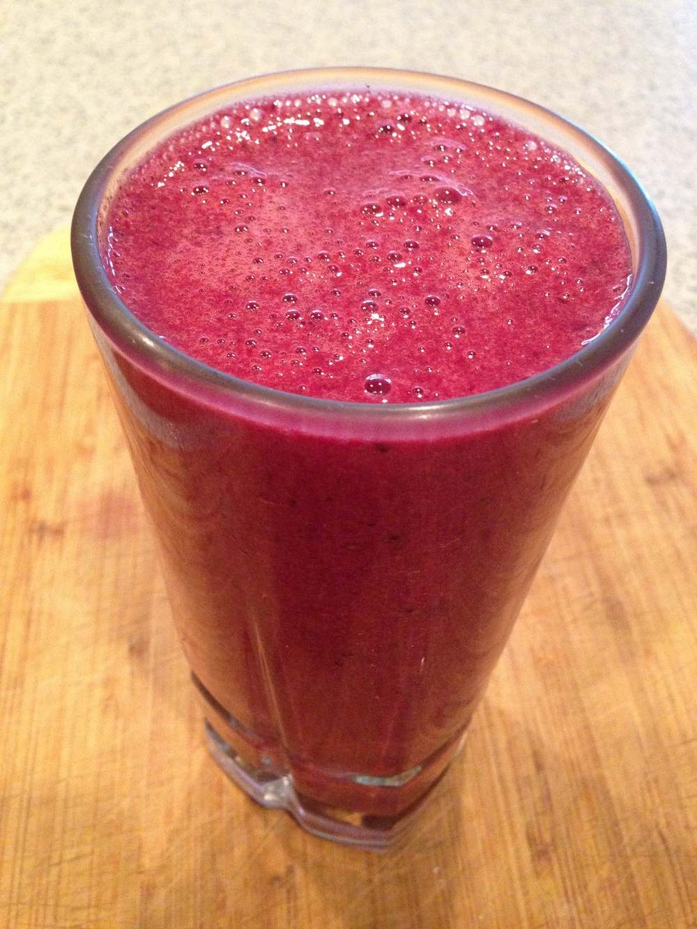 Pomegranate White Tea, Mixed Berry Smoothie