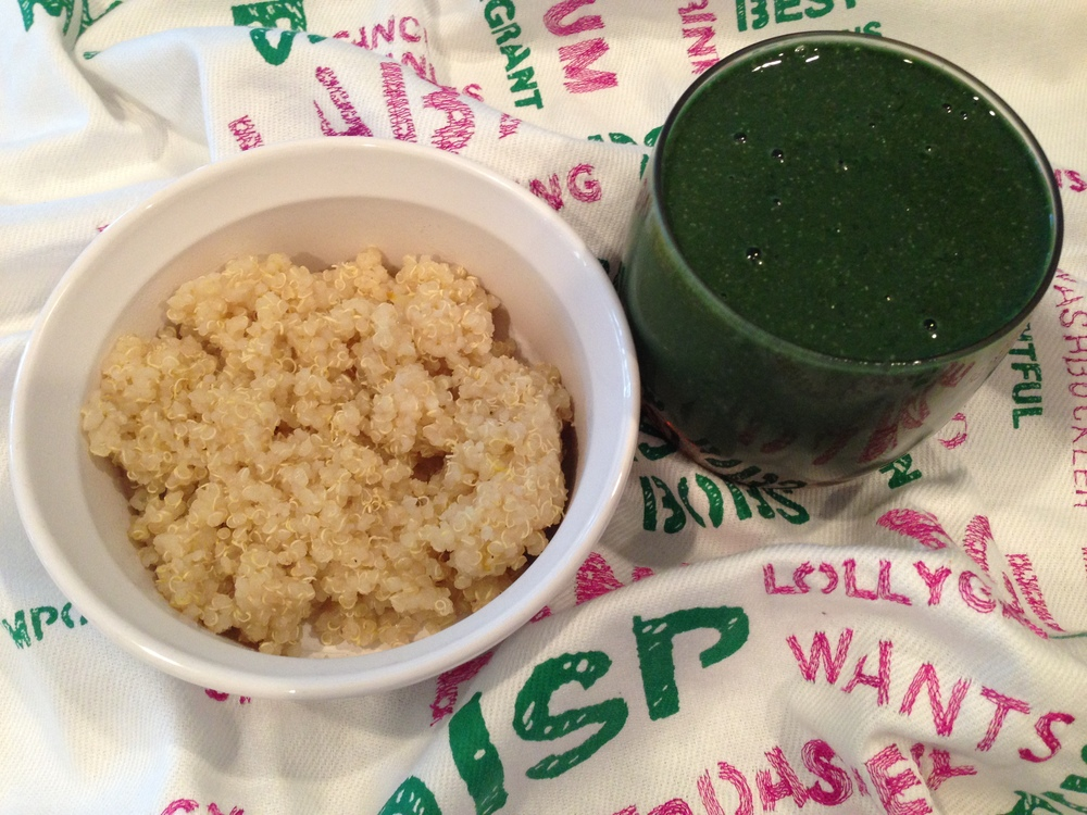 Green Smoothie + Quinoa