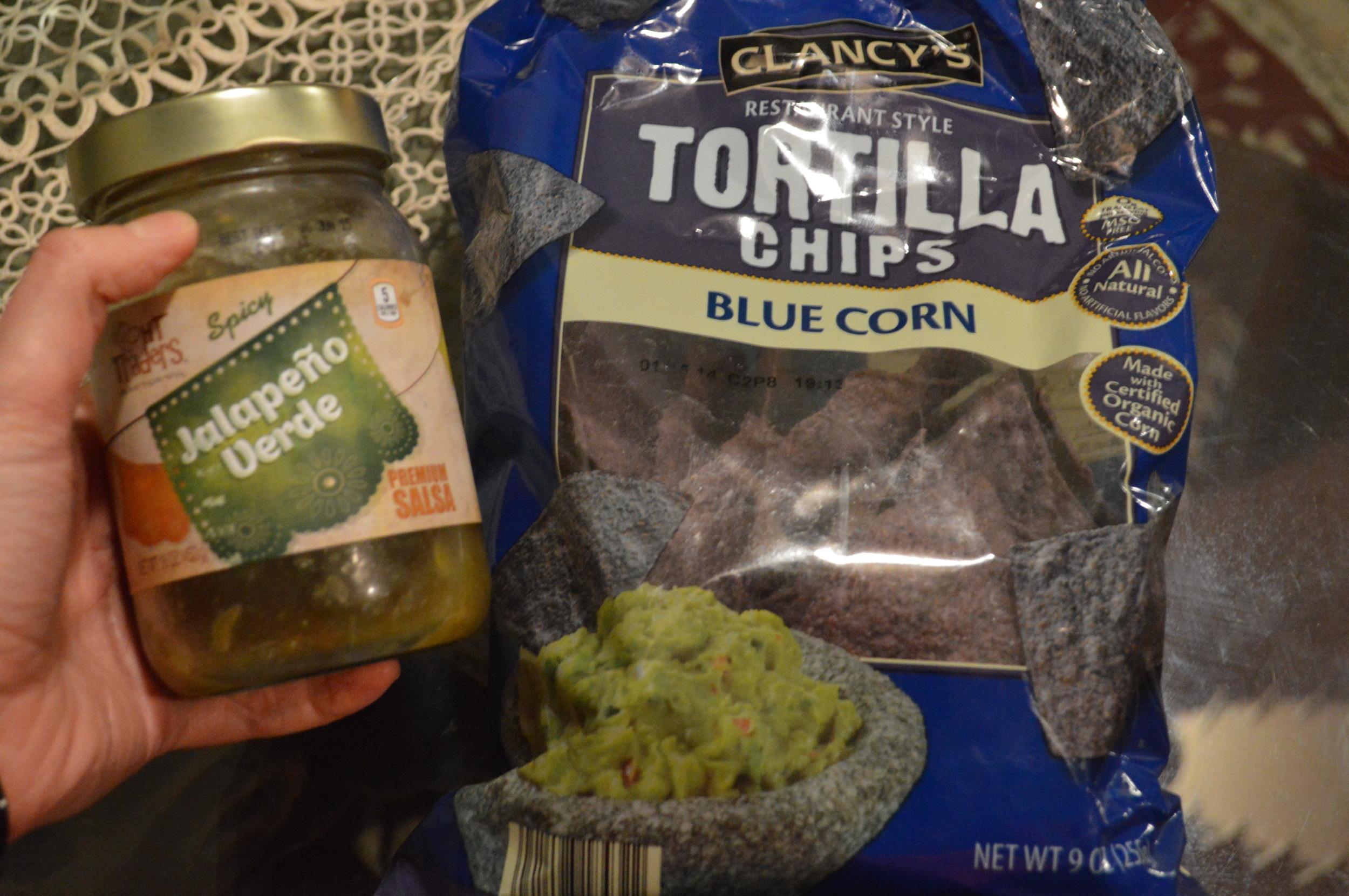 Blue Corn Chips & Salsa Verde