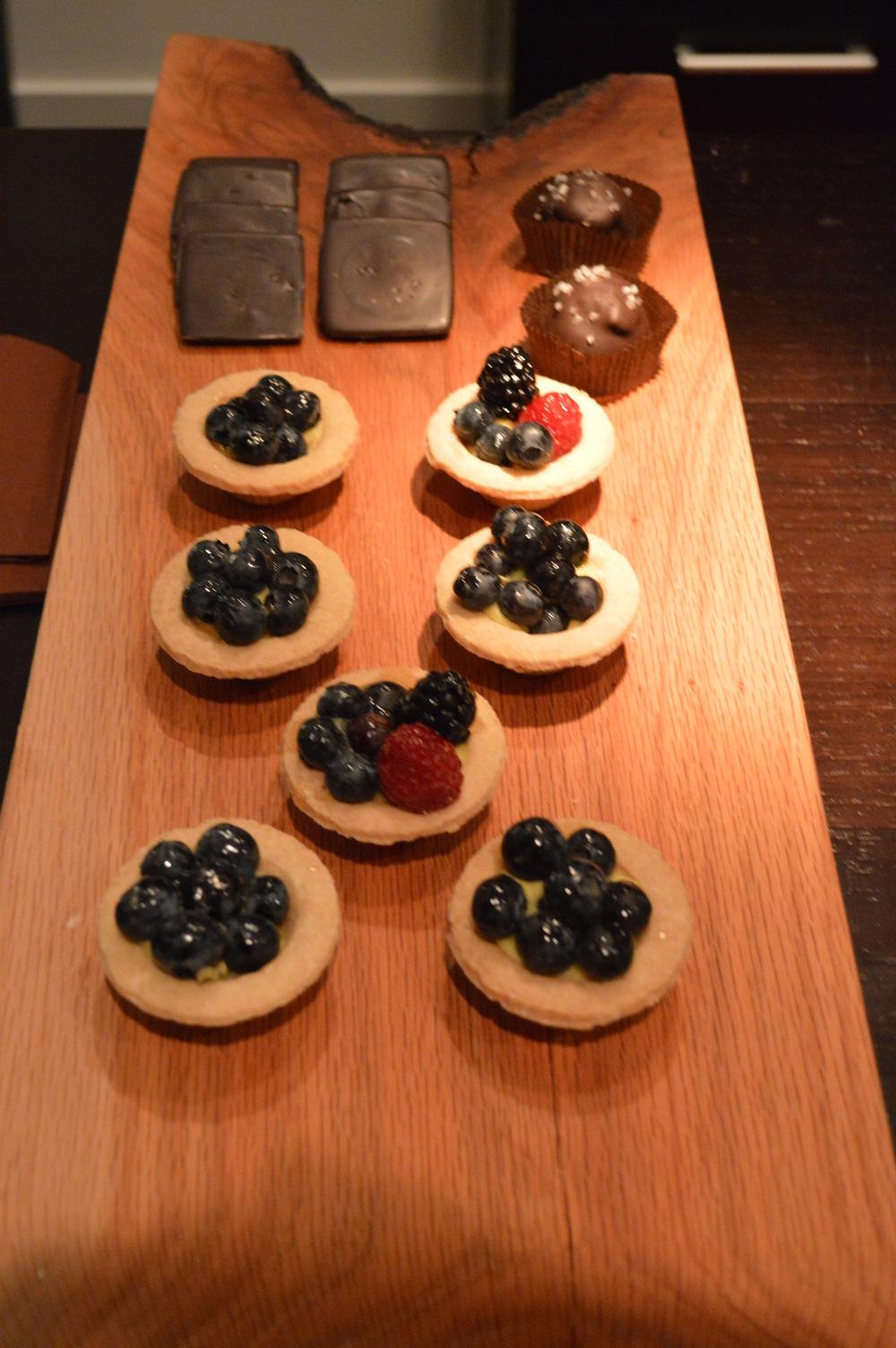 Blueberry Tarts + Dark Chocolate