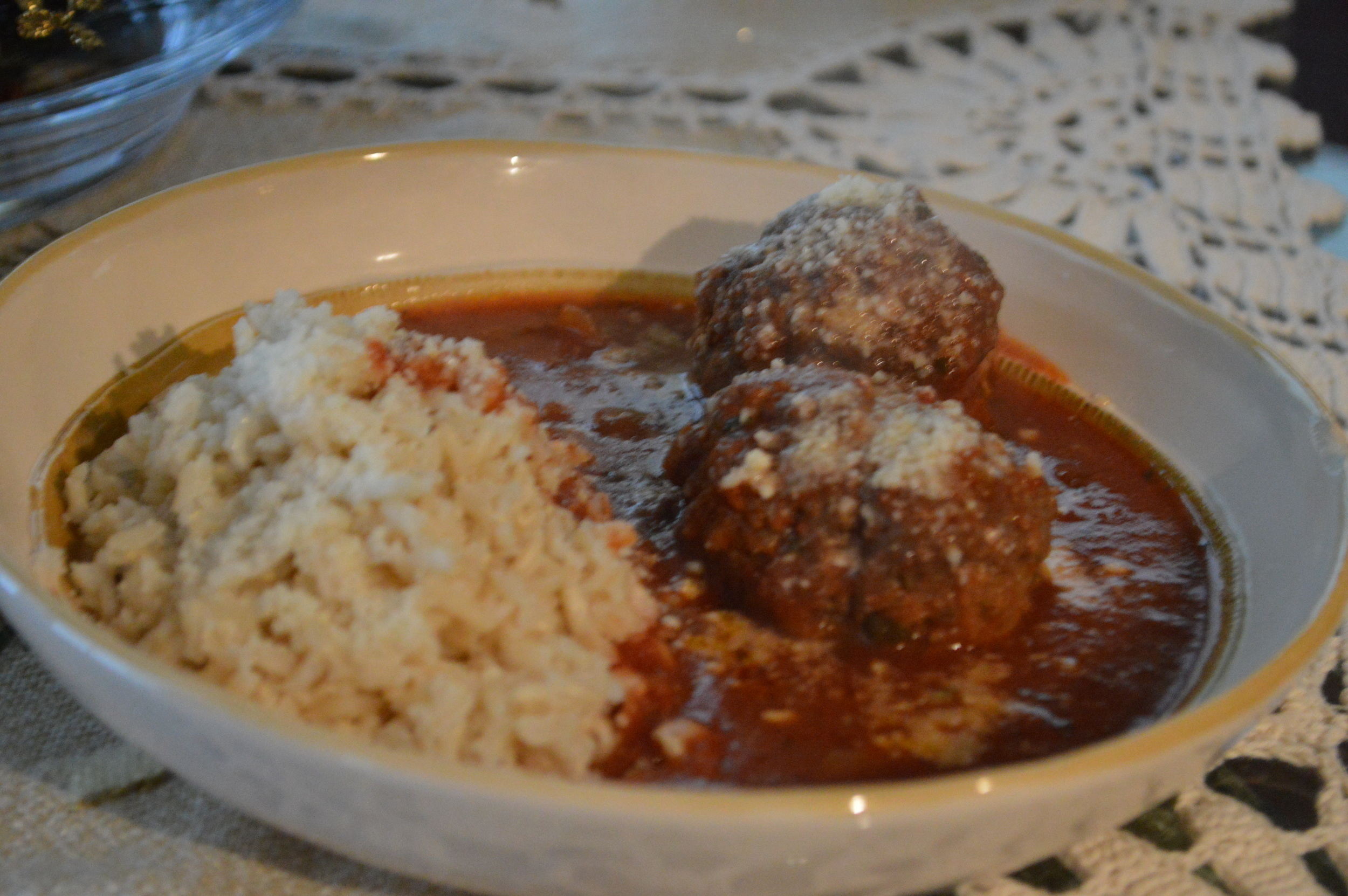 Meatballs + Brown Rice