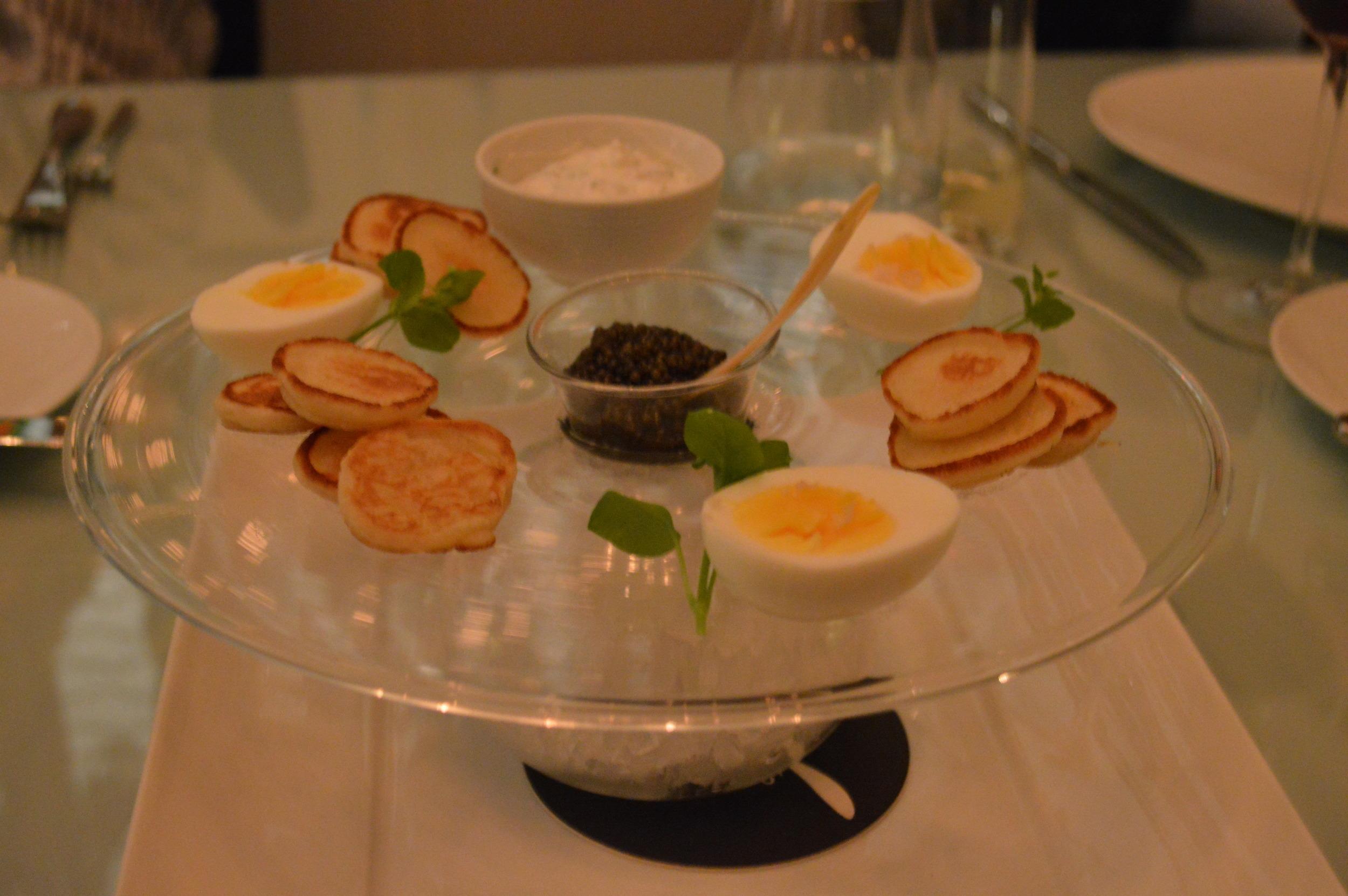 Spoon - Hard Boiled Eggs + Caviar