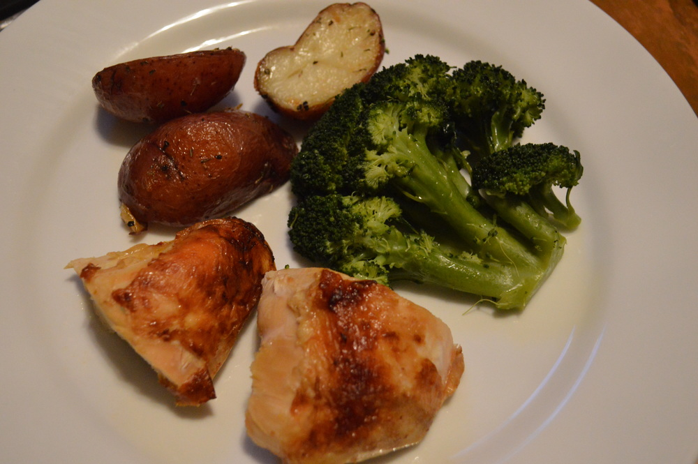 Chicken, Broccoli & Roasted Potatoes