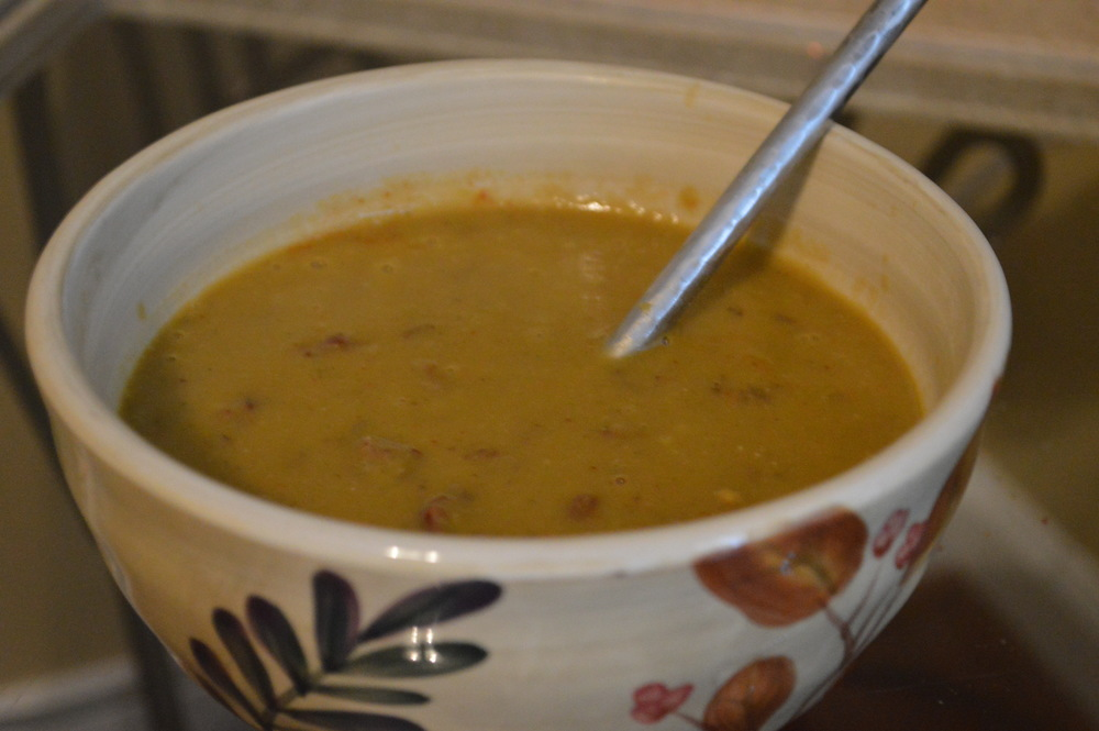 Pea Soup + Red Rice