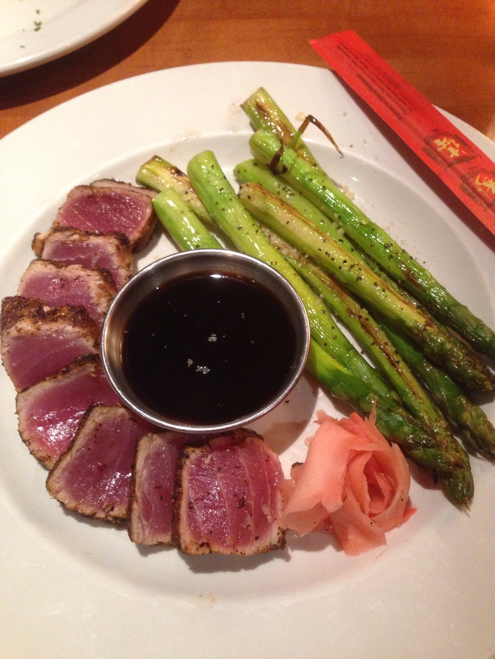 Bricktops Seared Tuna + Asparagus