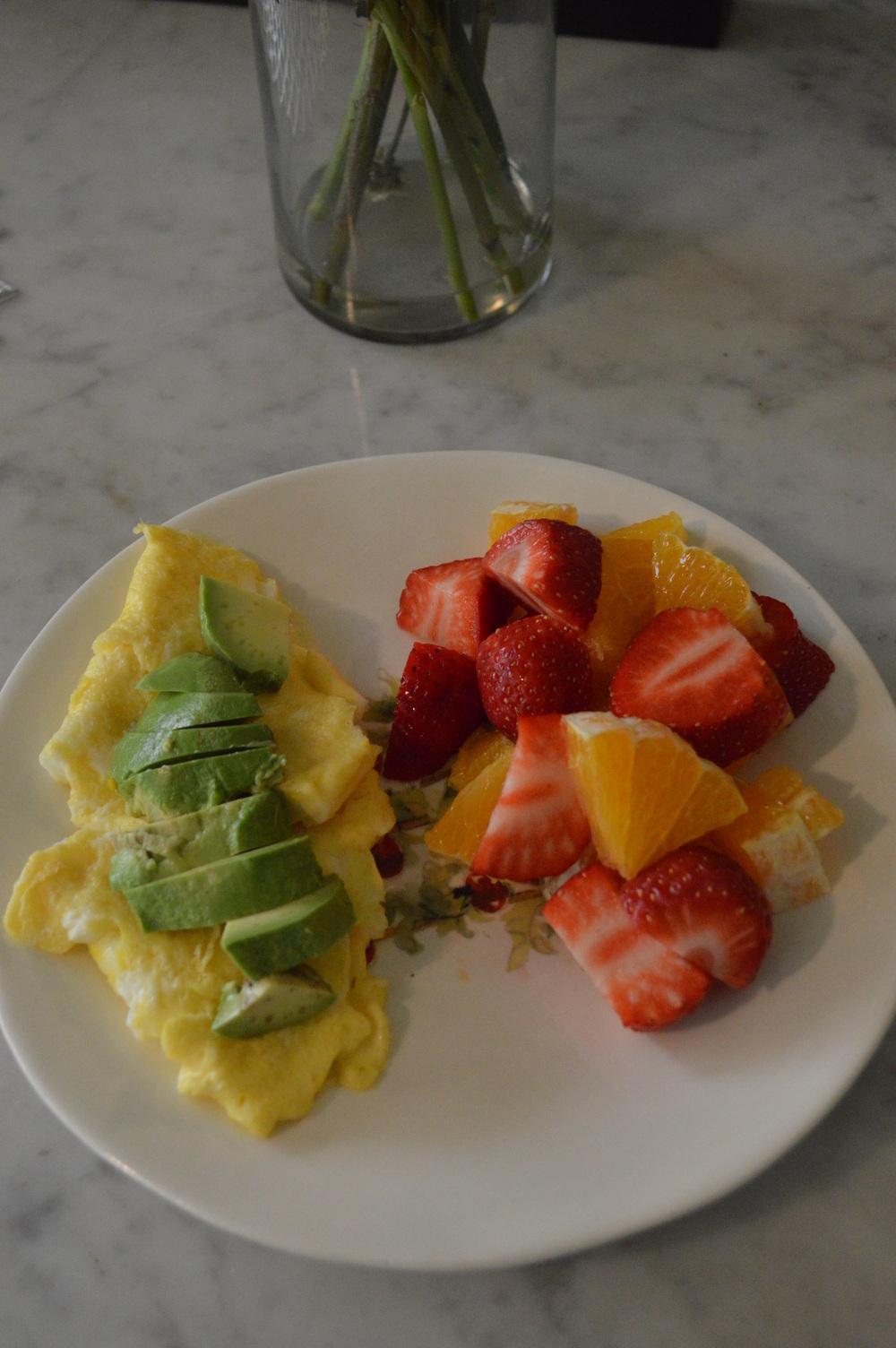 Eggs & Avocado + Fruit