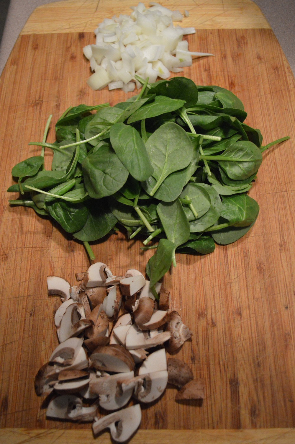Spinach, Onion, Mushrooms -Savory Oatmeal Ingredients -