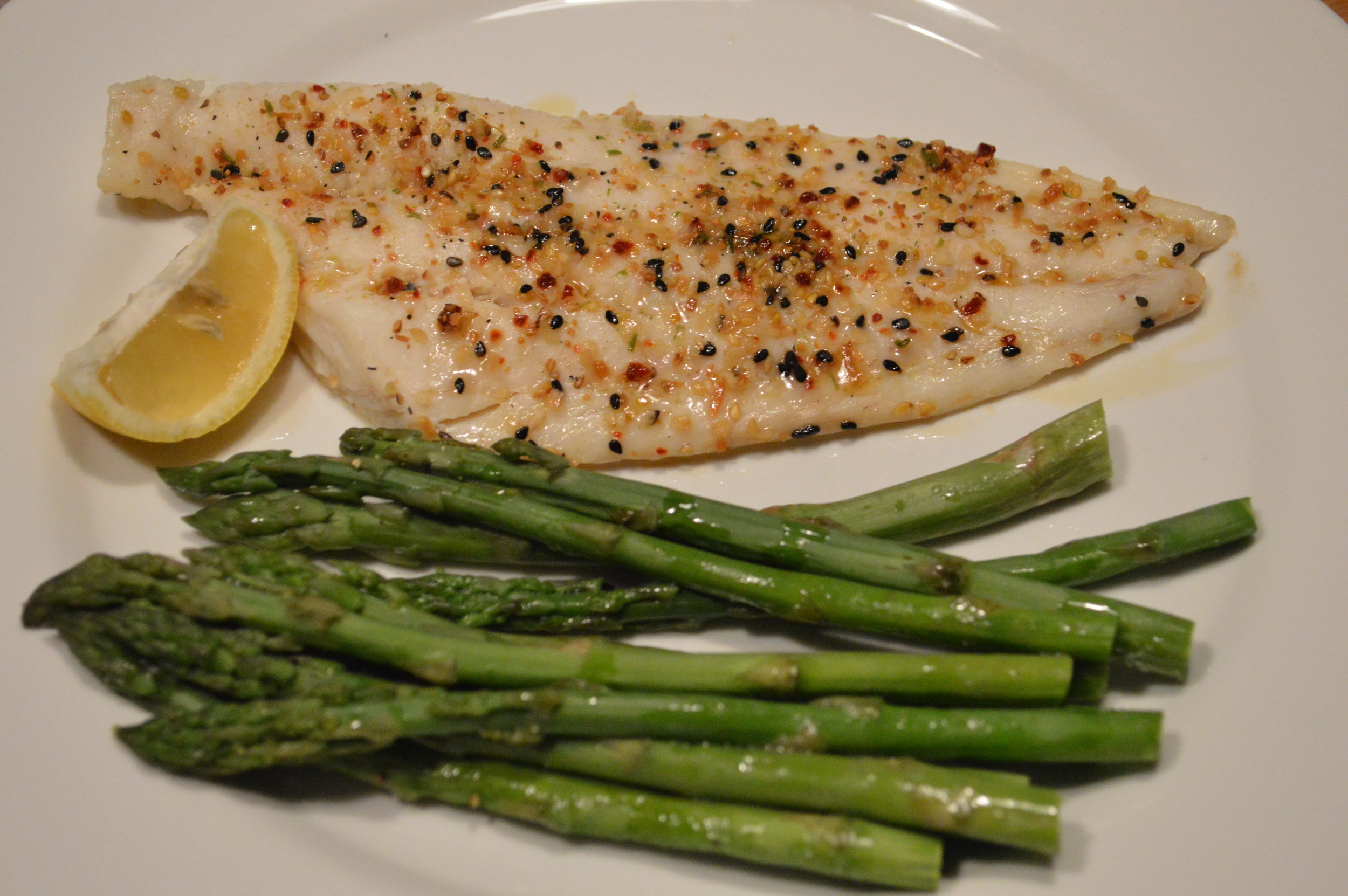 Asparagus & Baked Cod