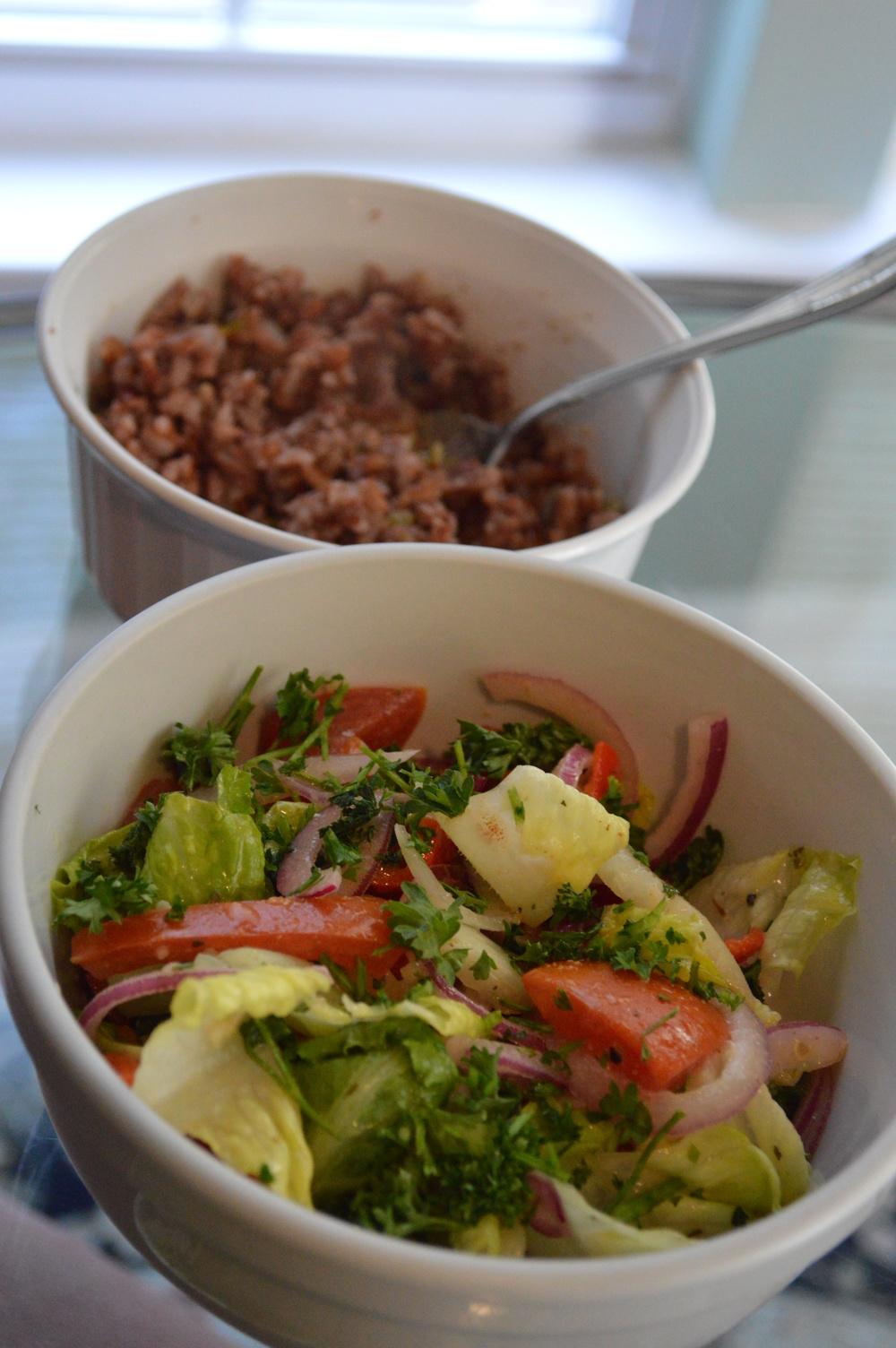 Red Rice + Salad