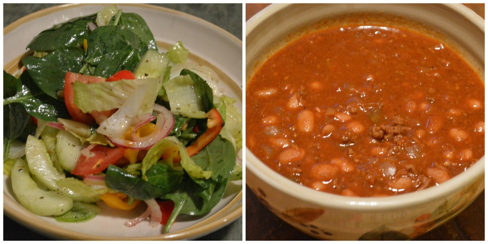 mixed salad & chili