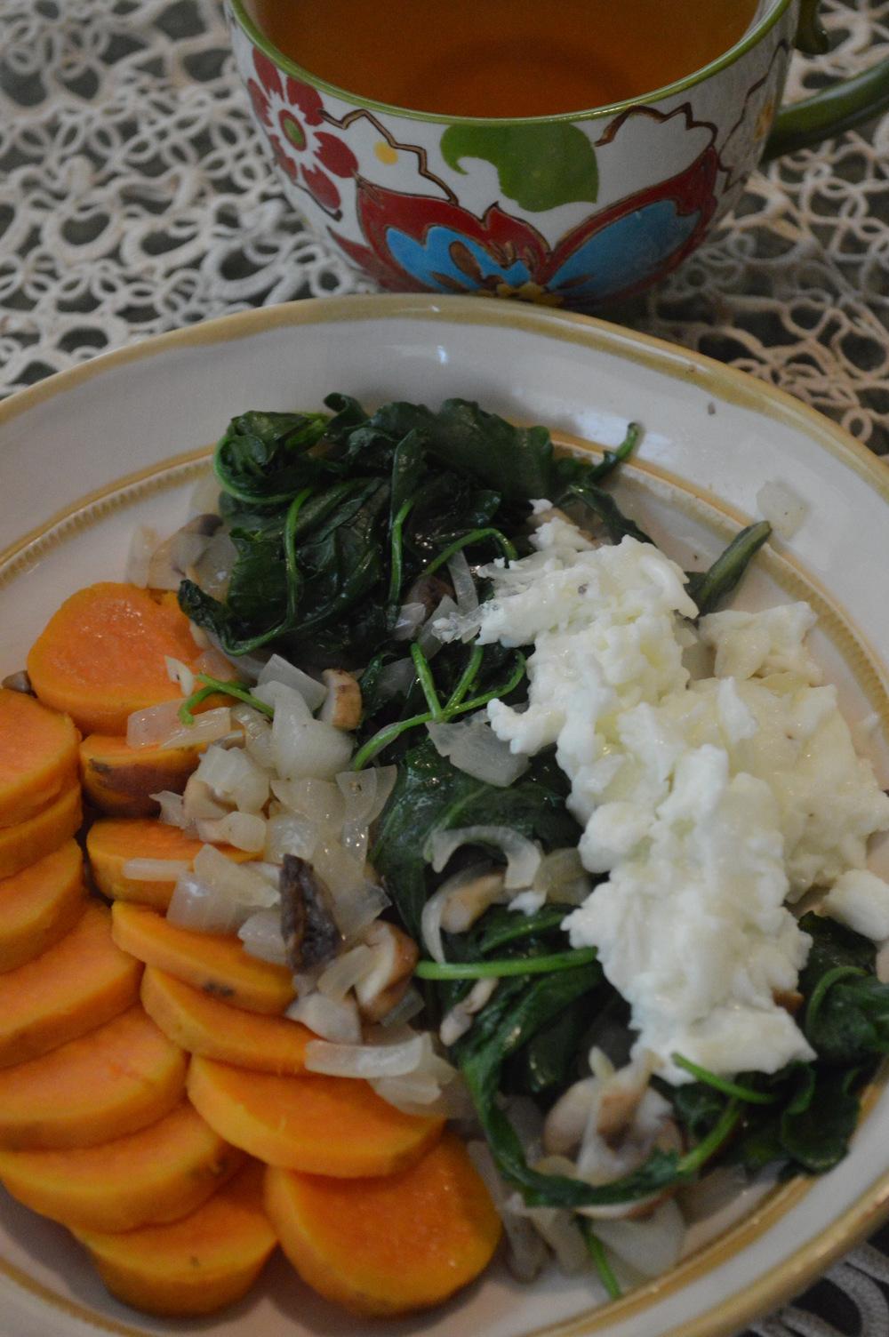 Sweet Potato + Satueed Kale & Egg Whites