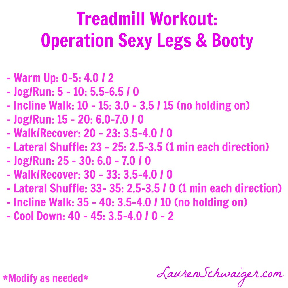 Sexy Legs & Booty - Treadmill Workout