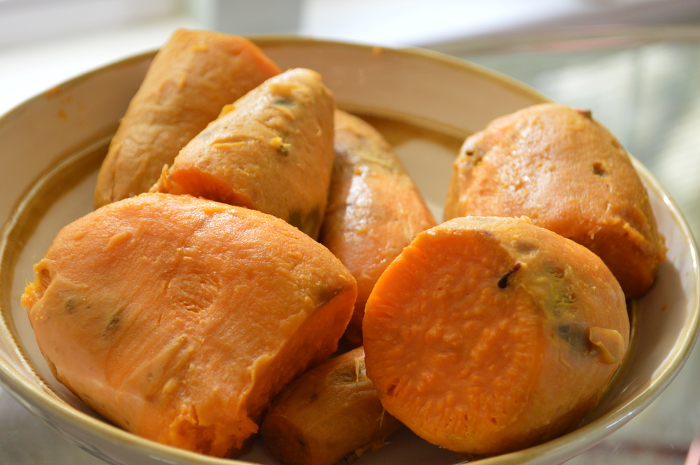 Steamed Sweet Potatoes