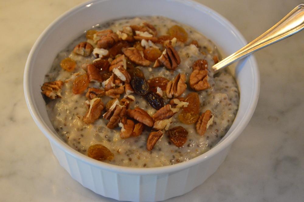 Oatmeal + Golden Raisins & Pecans