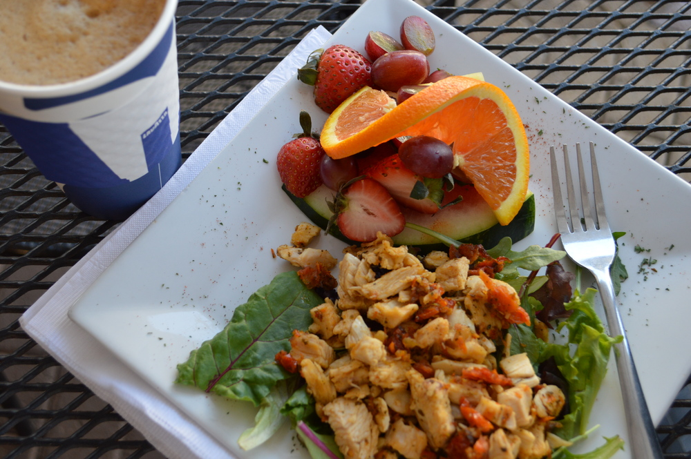 Rush Espresso - Chicken Salad & Fruit