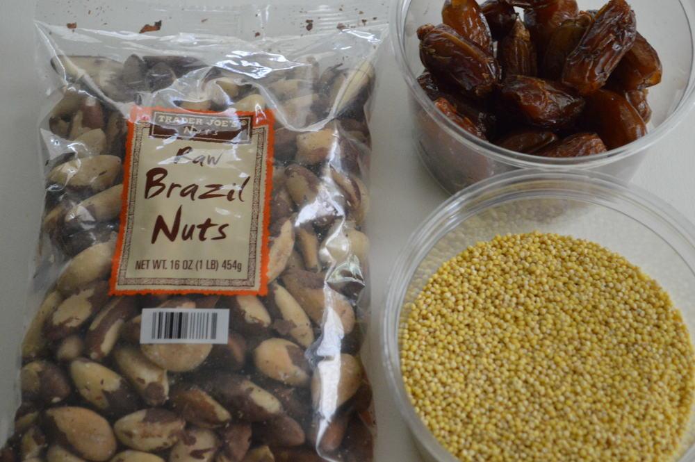 brazil nuts, dates & millet
