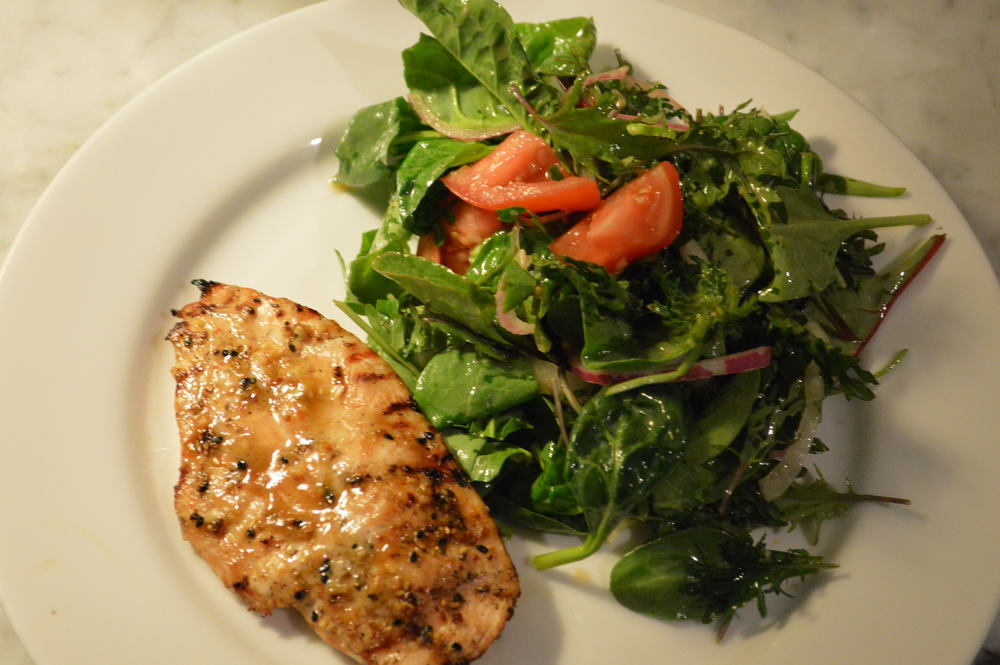 chicken & salad