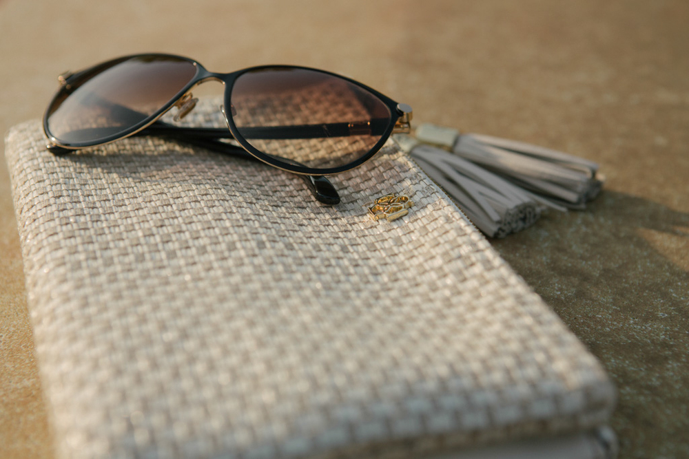 Ann Taylor Clutch, Jimmy Choo Sunglasses