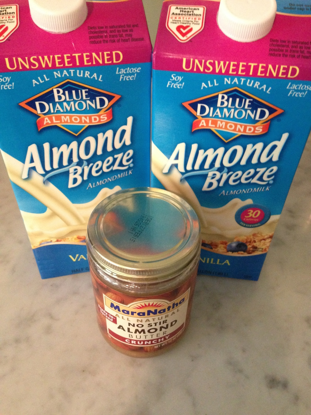 almond milk & almond butter