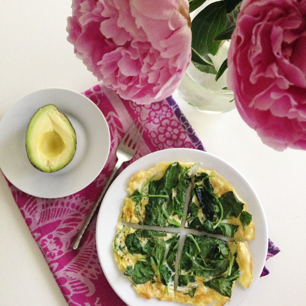 Spinach Open Faced Omelette