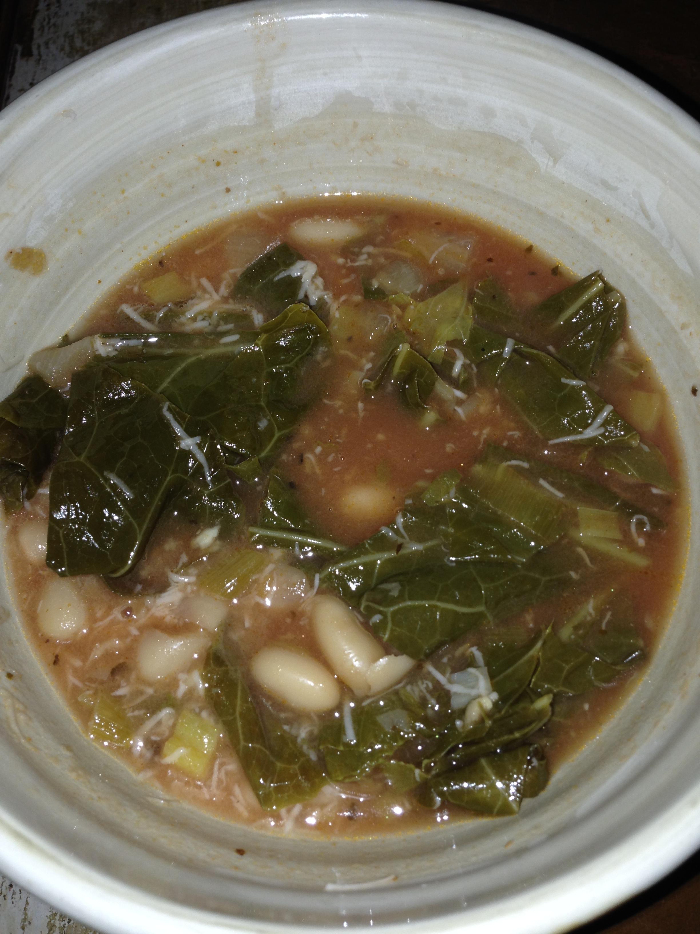 Collard Greens & White Bean Soup