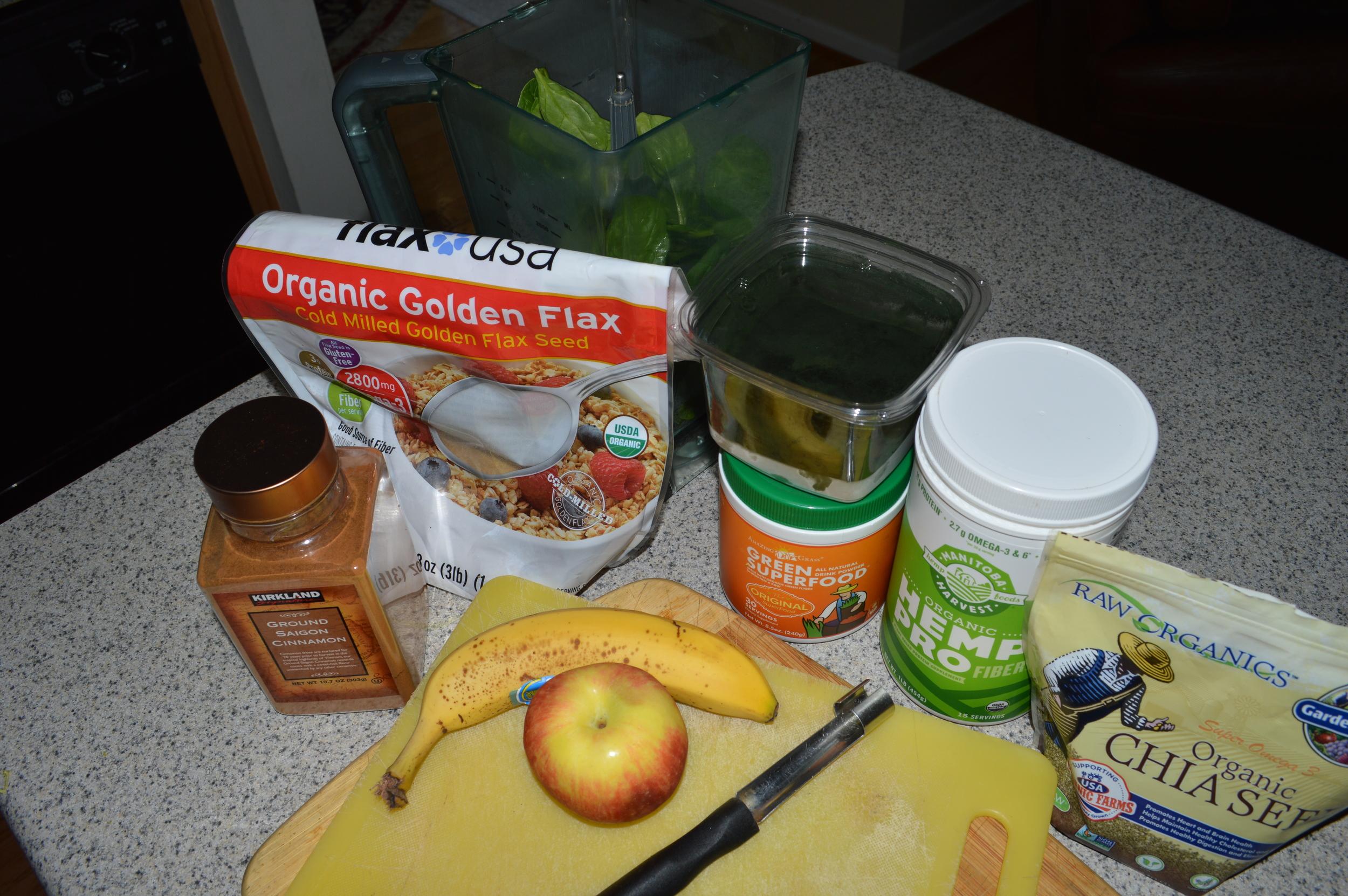 Greeen Smoothie Ingredients