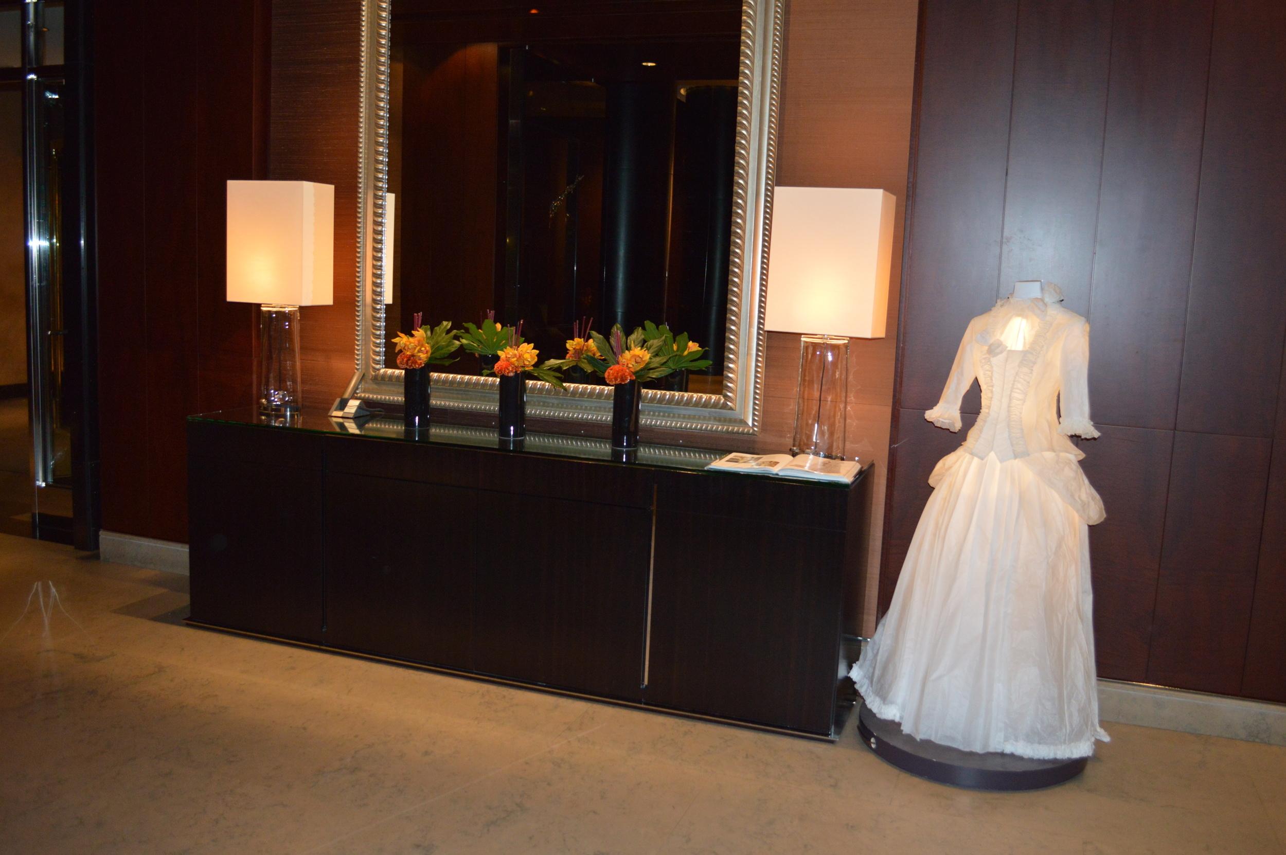 Park Hyatt Lobby paper dress