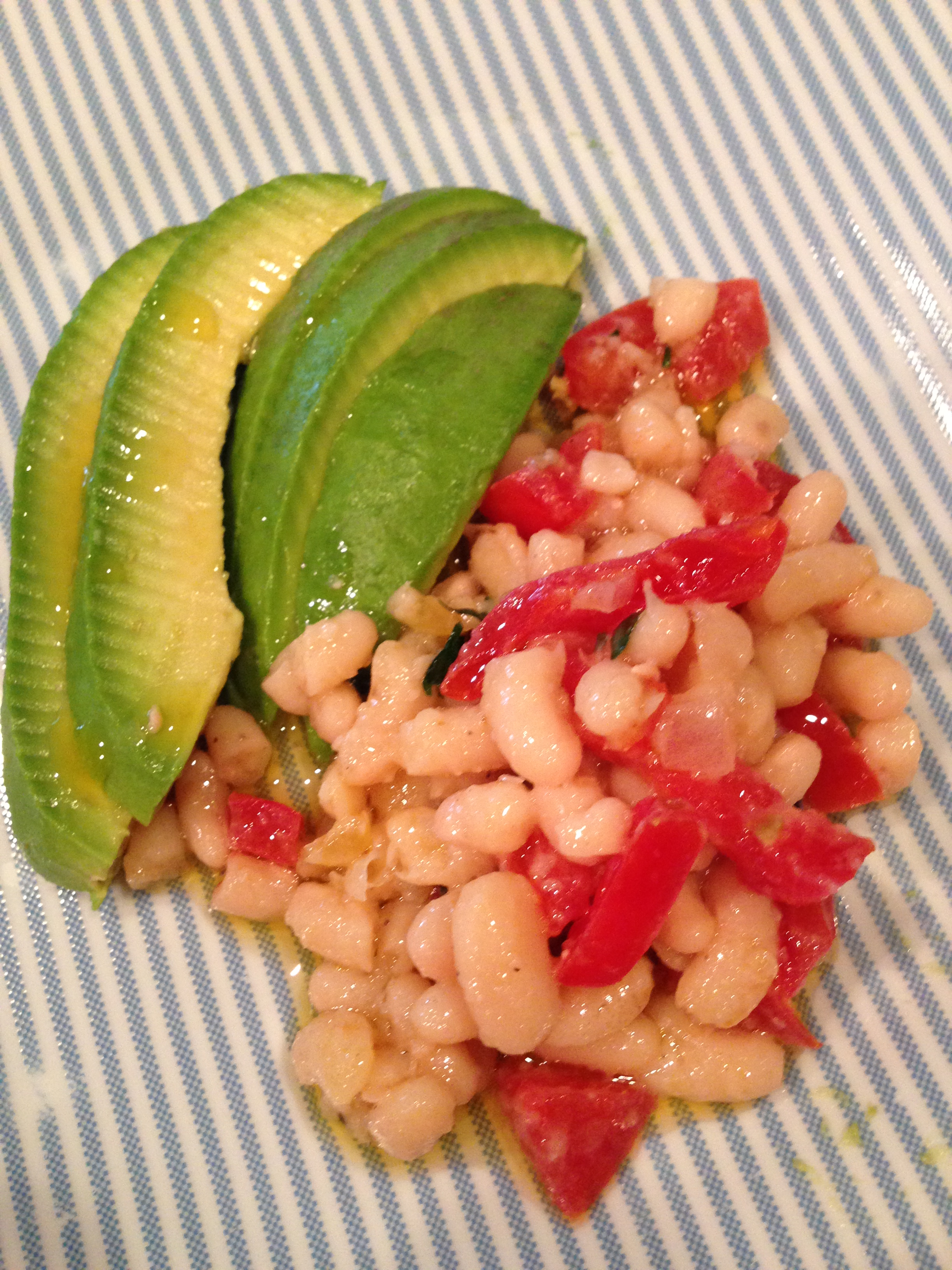 White beans & avocado