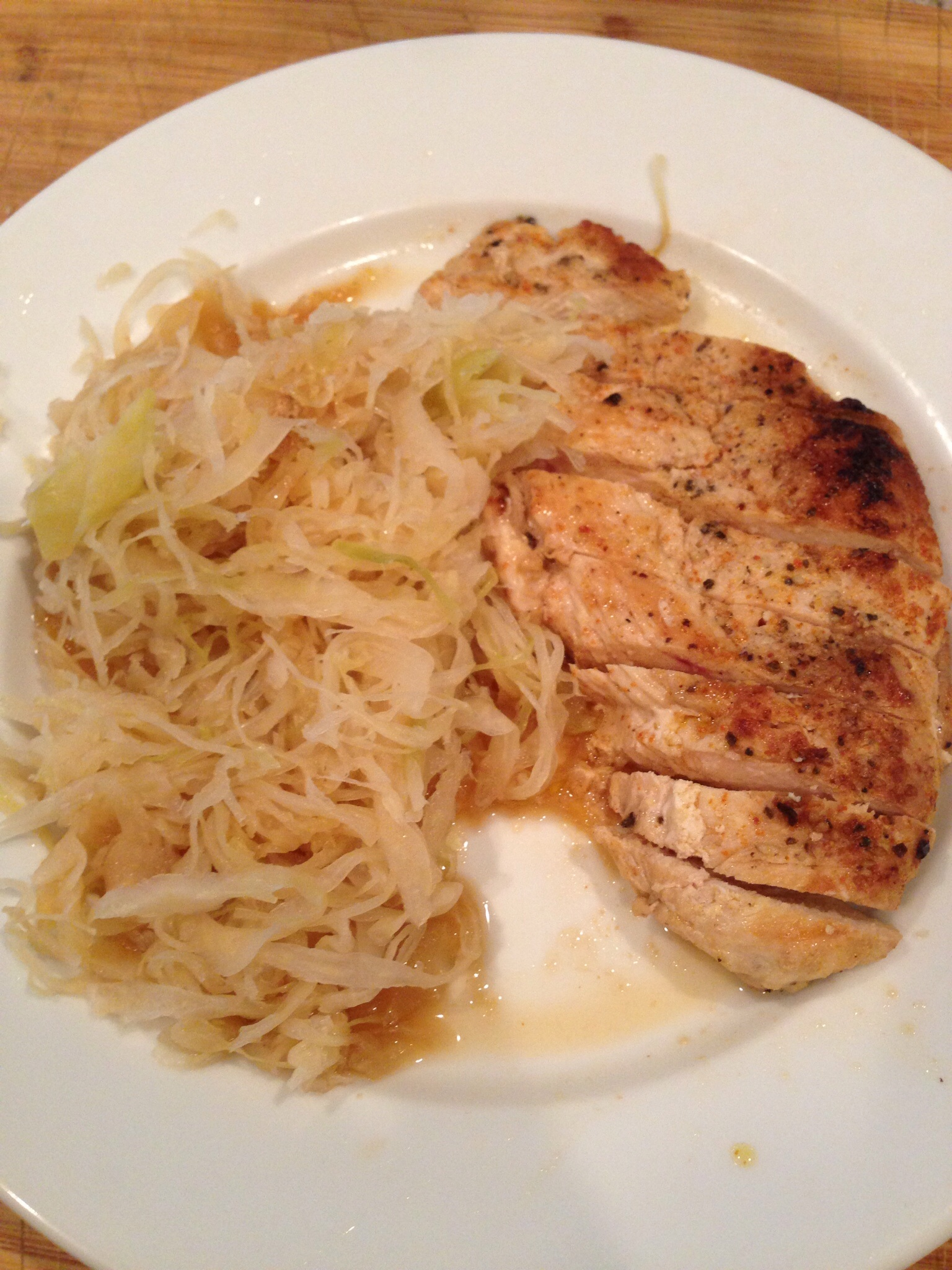 Chicken & Sauerkraut