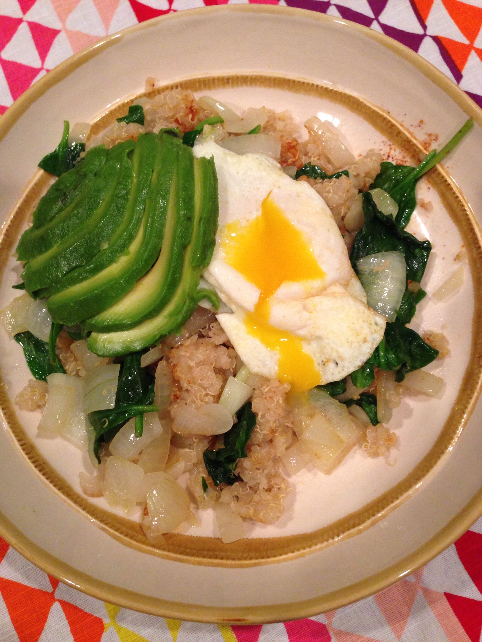 Quinoa, Spinach, Avocado & Egg