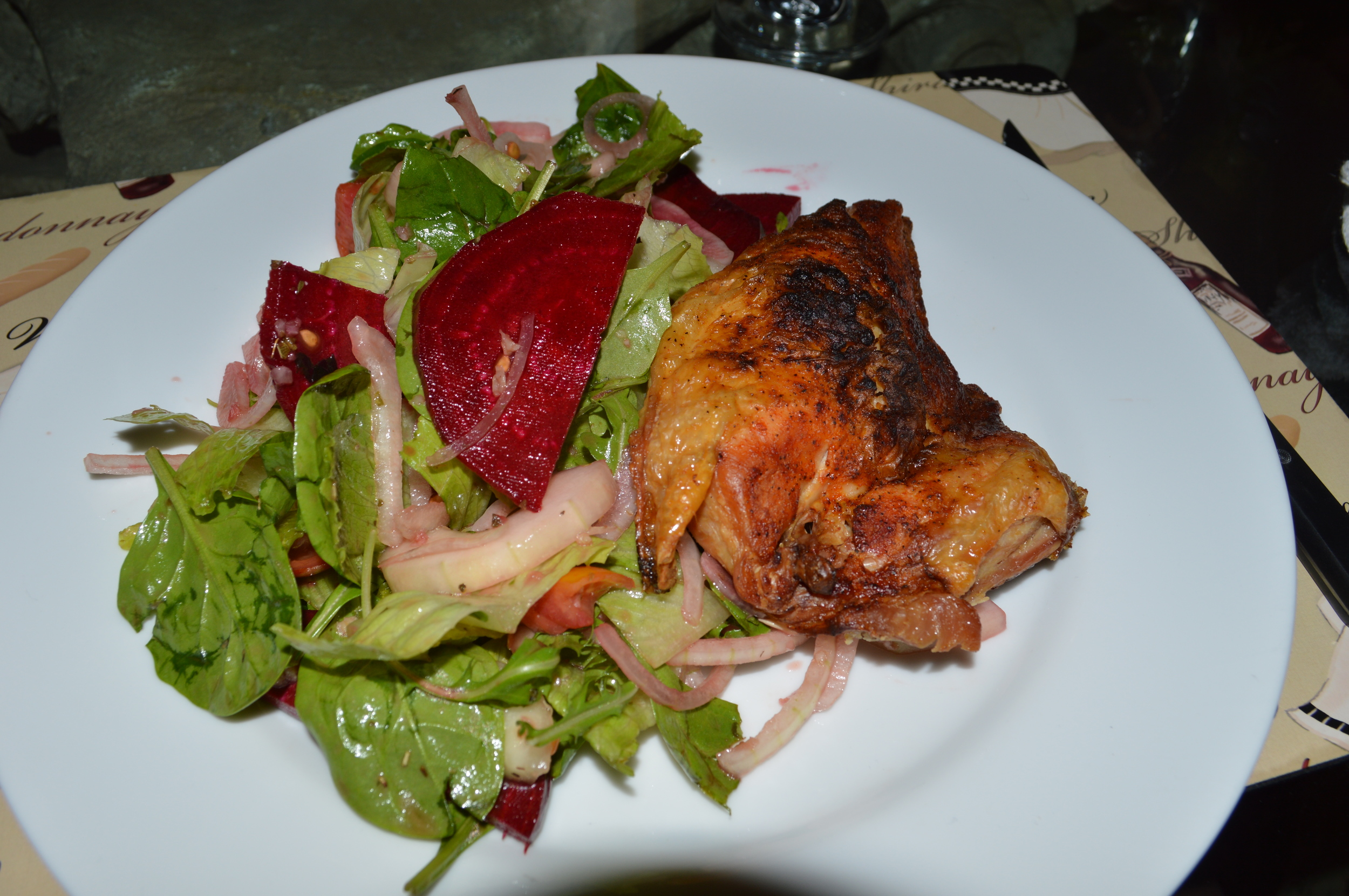 Baked Chicken & Salad